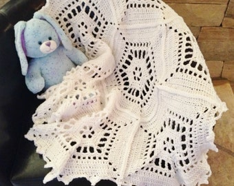 Snowflake Crochet Baby Blanket Pattern