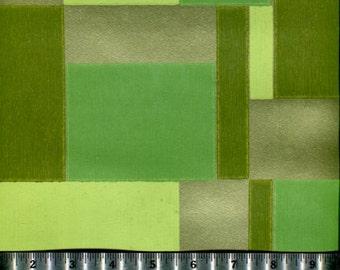 Vintage Wallpaper - Green Tetris  - By the Yard