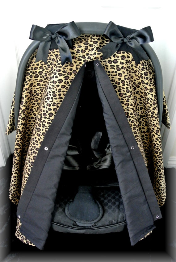 Cheetah Car Seat Canopy Car Seat Cover Leopard By