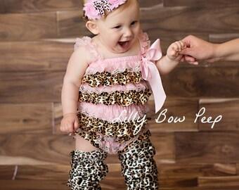 Baby Headband-Leopard Headband-Flower Headband-Preemie Headband-Newborn Headband-Child-Birthday Cake Smash-Pink Leopard Bow-Animal Print