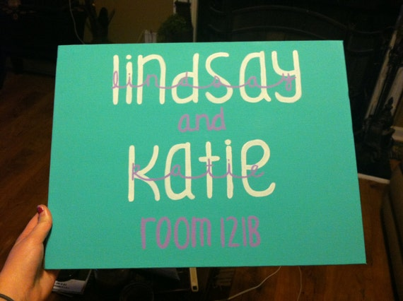 12×16 Dorm Room Name Sign ~ 170956_Etsy Dorm Room Ideas
