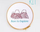 "Embroidery Kit ""Born to Explore"""