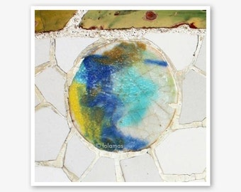Gaudi Barcelona, Gallery Art,Mosaic Tile,  Fine Art Photography,Wall Decor