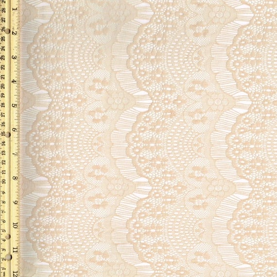 Taupe stretch eyelash lace fabric by the yard or wholesale 1 for Cheap fabric by the yard