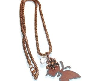 Rustic Butterfly Necklace