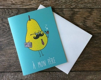 Father's Day Pear Greeting Card