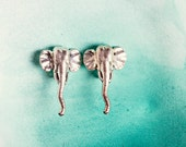 Huge Vintage Silver Elephant Earrings