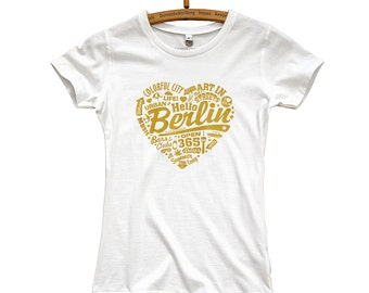 T-Shirt Berlin Golden Heart