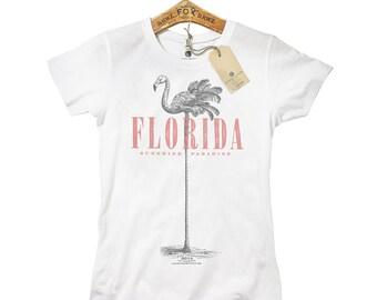 T-Shirt Florida Flamingo Girls
