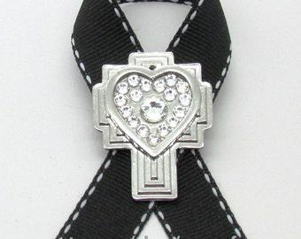 Melanoma Cancer Awareness Pin or Brooch