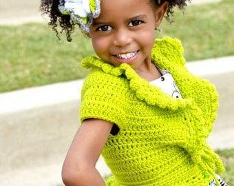 Girls Crochet Bolero, Cute Shrug, Crochet Shrug, Girls Sweater, Girls Crochet Shrug