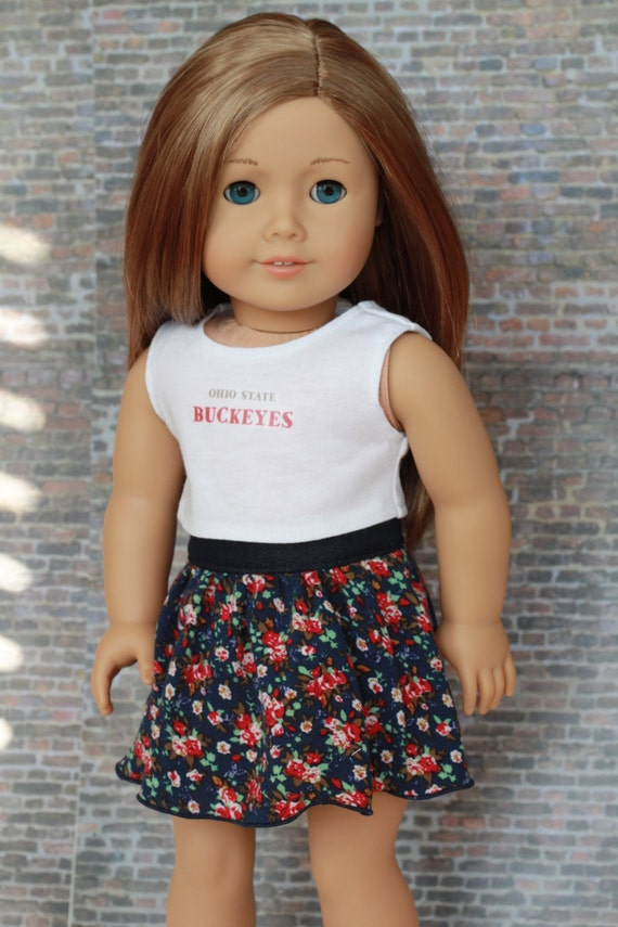 Ohio State Buckeyes CROP TANK TOP Doll Clothes for dolls such