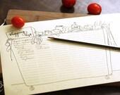 DOODLE Shopping List / Planner / Organizer   Printable Letter size pdf templates   Unique Creative Artistic Management Reminder Tool