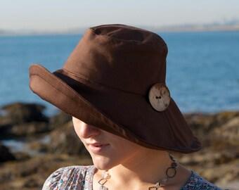 Wide Brim Women Sun Hat, Black Women Summer Hat, DISCONTINUED Summer hat, Price REDUCED, Original price 55 doll, Large Size