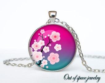 Sakura Cherry Blossom Necklace Sakura Cherry Blossom pendant jewelry