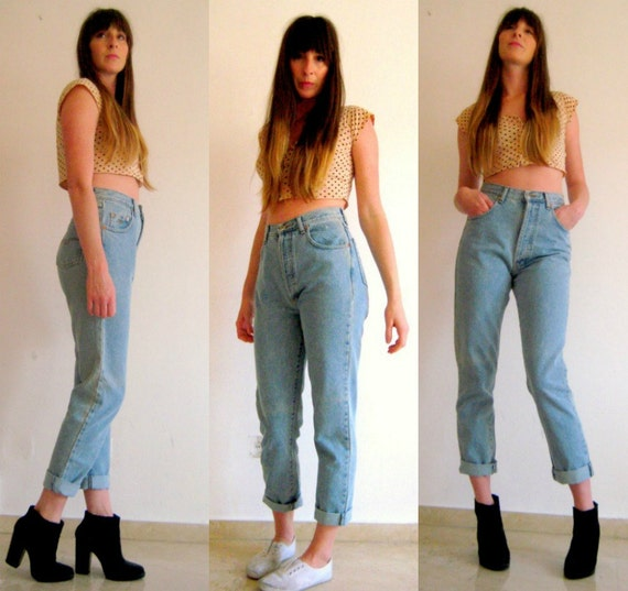 80s 90s vintage high waisted jeans mom jeans high by VintageTeeth