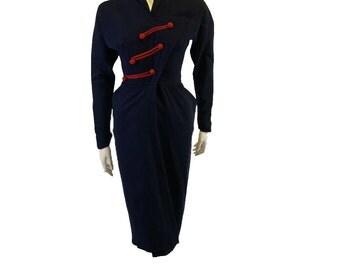 1940s Vintage Dorothy O'Hara Formal Dress
