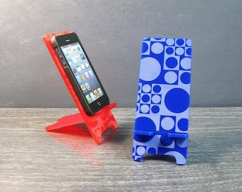 Mid Century Modern Atomic Acrylic Phone Stand 5 Sizes iPhone 6, iPhone 6 Plus, iPhone 5, iPhone 4, Samsung Galaxy S5 S4, Docking Station