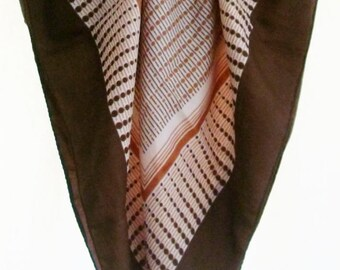 Vintage Scarve.Brown / Cream