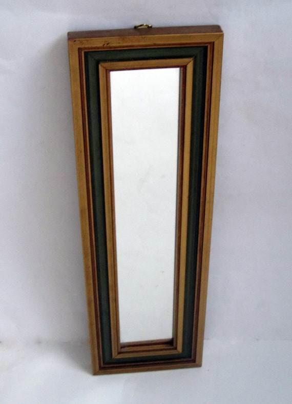 Vintage french mirror slim wall mirror narrow rectangular for Long narrow wall mirror