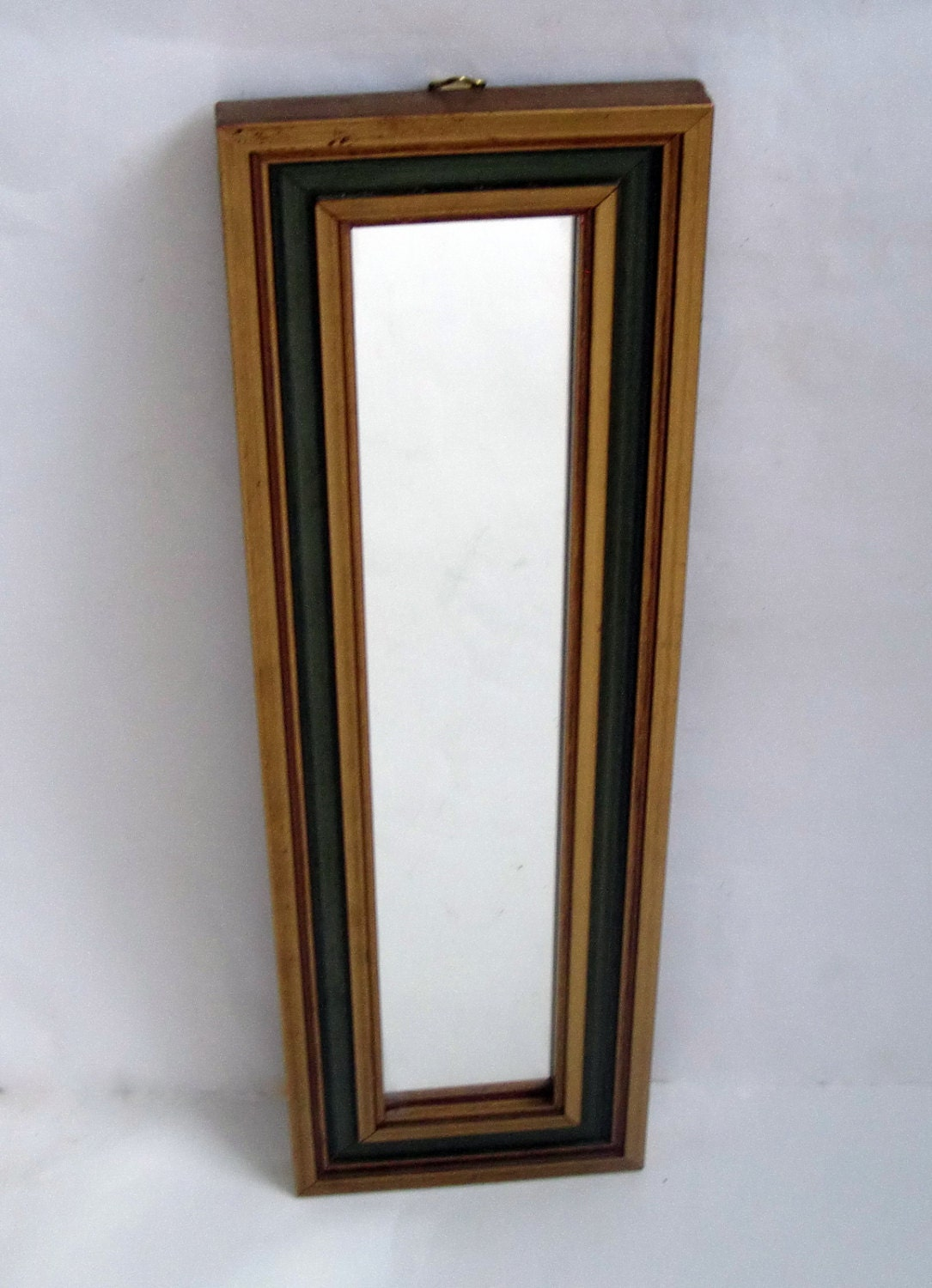 Vintage french mirror slim wall mirror narrow rectangular for Narrow wall mirror decorative