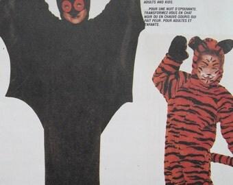 McCall's Crafts Bat and Cat Costume Patterns 3399 Adult Medium