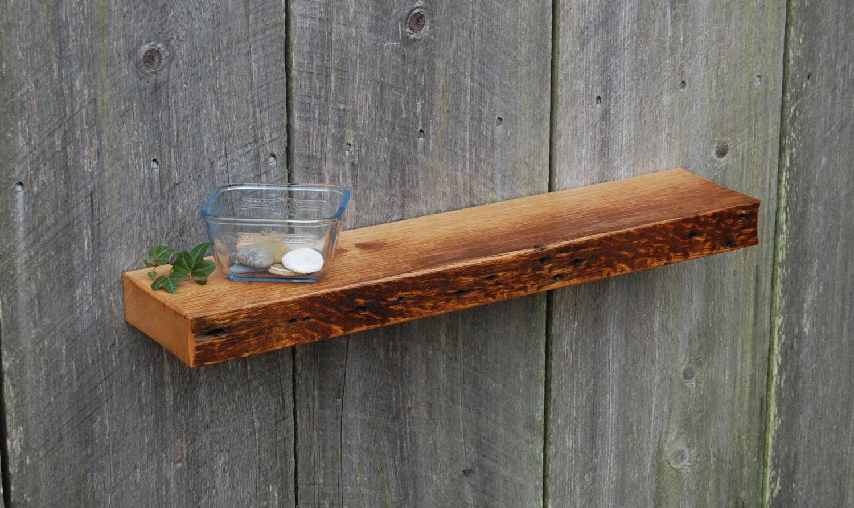 reclaimed white oak floating shelf. Black Bedroom Furniture Sets. Home Design Ideas