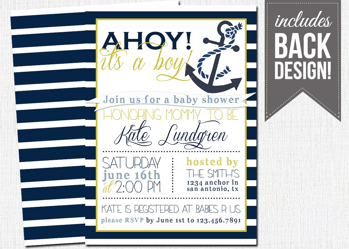 nautical baby shower invitation baby boy by katesprintables