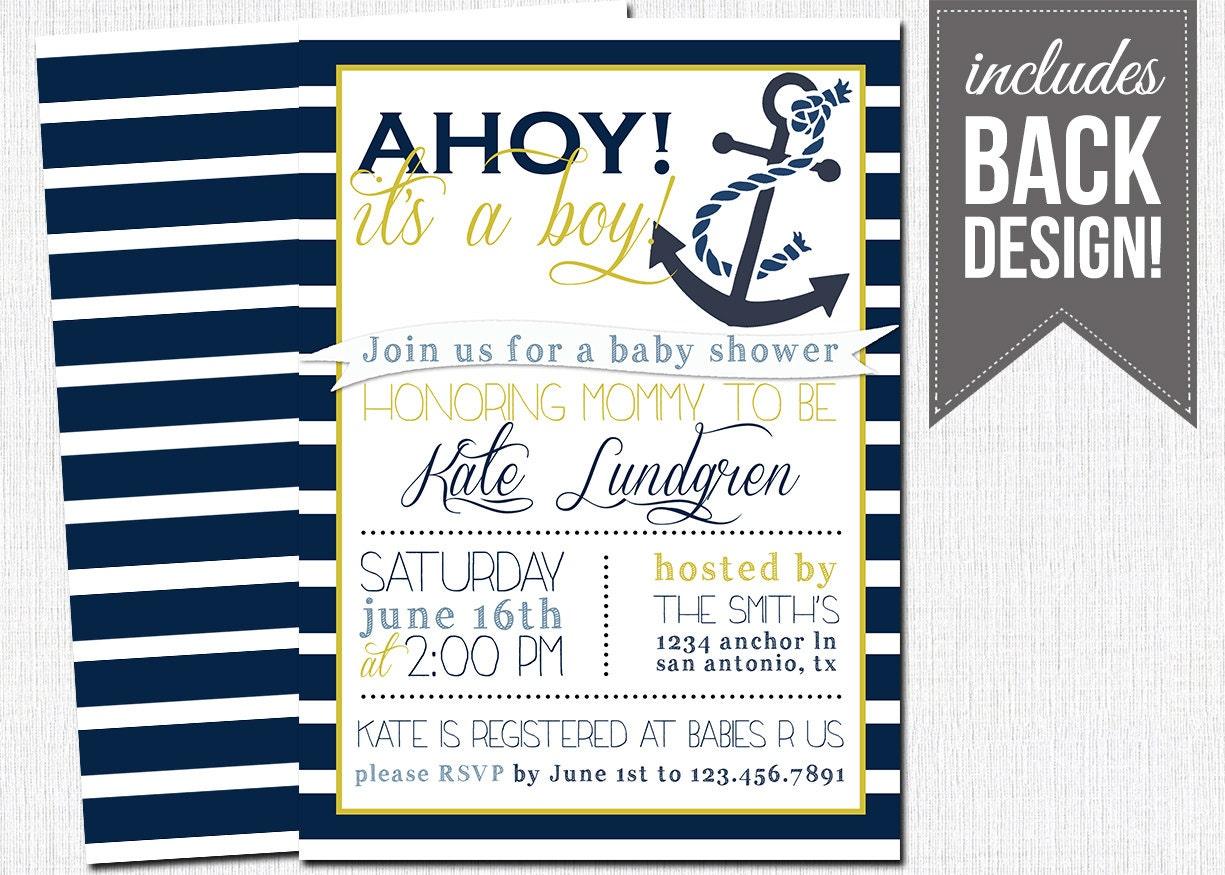 nautical baby shower invitation baby boy by katesprintables