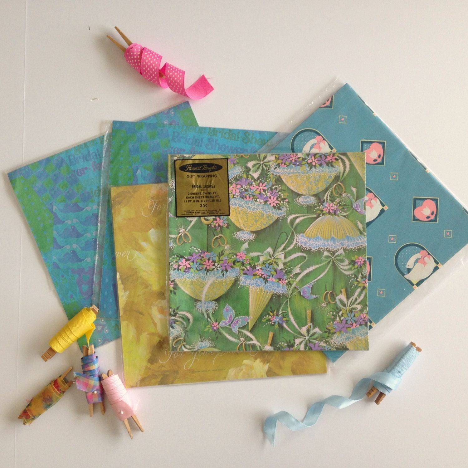 Wedding Gift Wrap Etiquette: Gift Wrap Assorted Packs Of Bridal Shower Vintage Wrapping