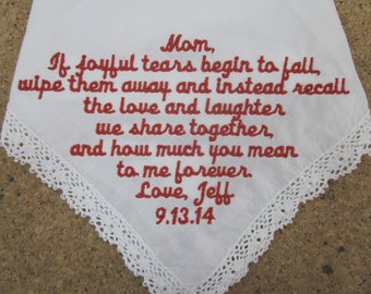 Mom Wedding Handkerchief