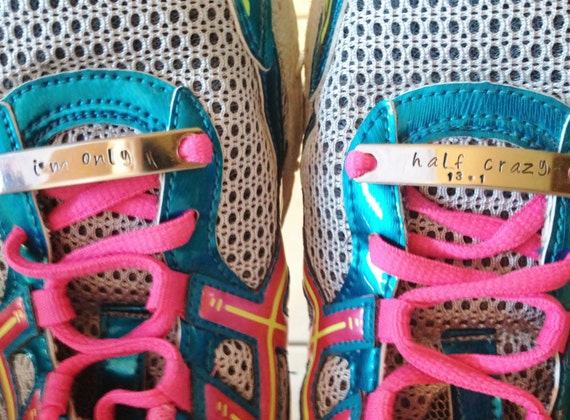 Running shoe tags, running club, sports club, sports event promo, personalized tags, 5k/half marathon, marathon running, 2 running shoe tags
