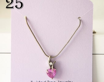 Custom Necklace Cards With Your Shop Name Or Logo-3 by 2.75 inches- Many Colors Avaialble(25 Cards)