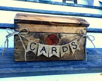 Rustic wedding card box, fall wedding card box, country wedding, barn wedding, wedding card box