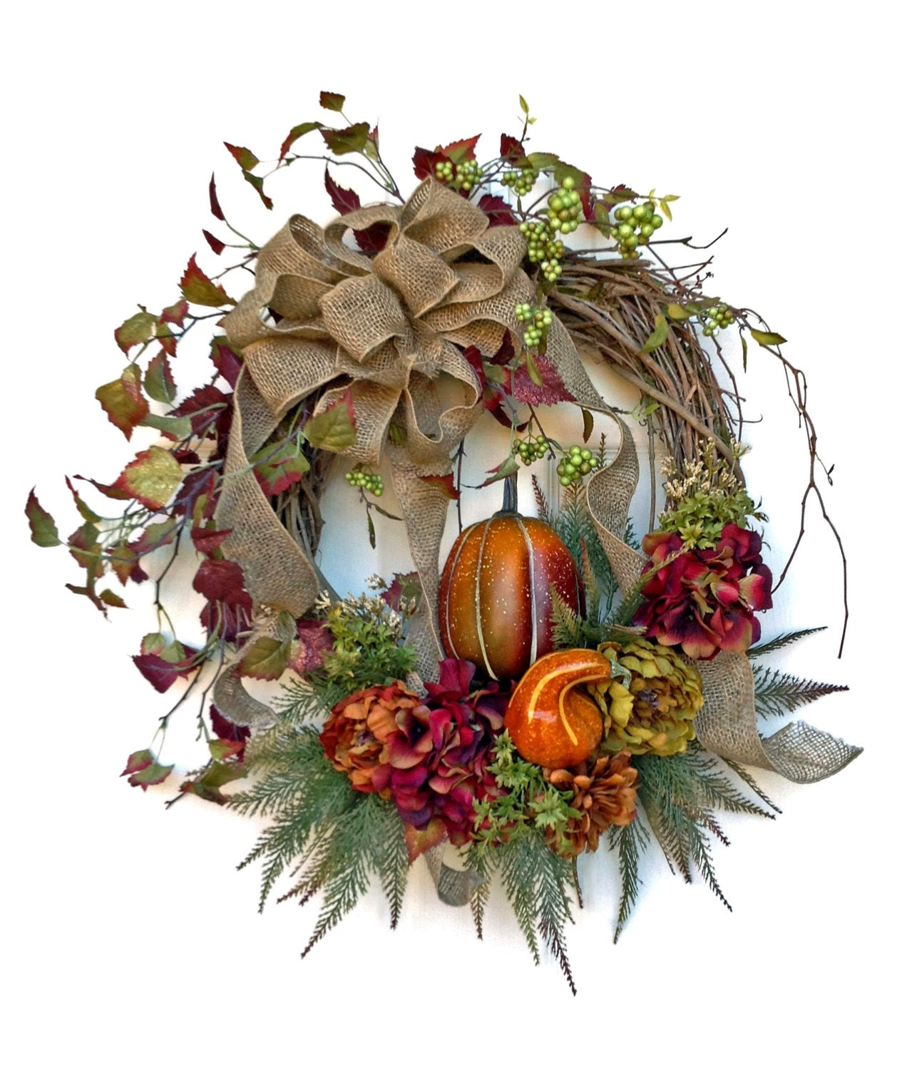 Harvest Fall Wreath For Door Fall Decor Autumn Wreath