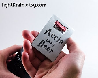 accio butter beer harry potter inspired credit card bottle opener free - Credit Card Bottle Opener