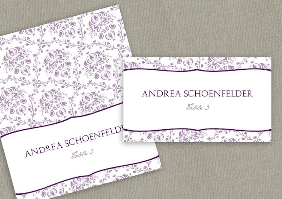 place card template download instantly editable text victorian