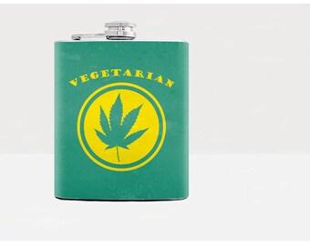 ... leaf Pot Leaf 21st Birthday Gift For Boyfriend Cannabis Hip flask 7oz