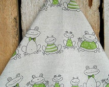 Frog Towel Frog Decor Green Frog Tea Towel  Hand Towel Kitchen Towel Dish Towel Gift For Mom Christmas Gift Birthday Gift Frog Fabric