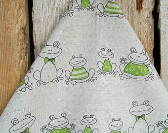 Frog Towel Frog Decor Green Frog Tea Towel  Hand Towel Kitchen Towel Dish Towel Gift For Mom Christmas Gift Birthday Gift Frog Fabric