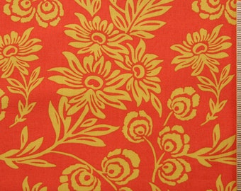 Joel Dewberry fabric Modern Meadow Daisies JD35 SUNSET orange red yellow gold floral 100% Cotton fabric Sewing Quilting Fabric by the yard