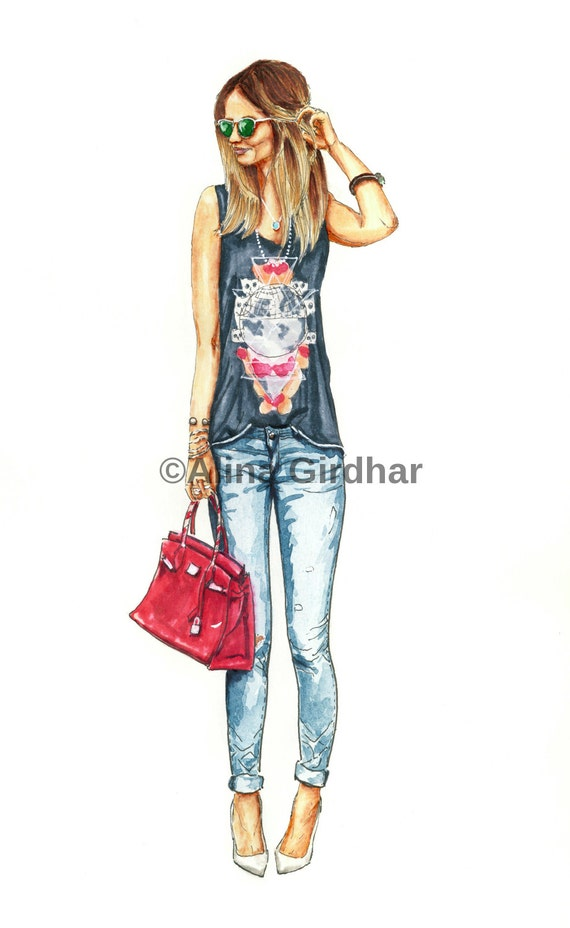 Model sketching fashion designs 87