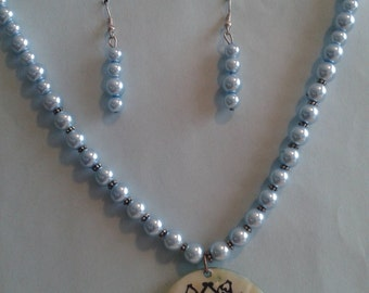 2 Pc. Blue Pearl Jewelry Set