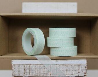 Washi Tape - light mint green triangle pattern - 6001