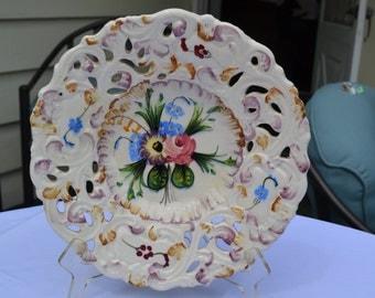 Sale:  Mid Century Floral Italian Plate
