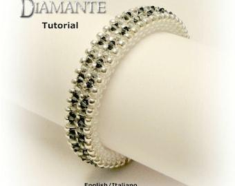 Tutorial Diamante Bangle - beading pattern