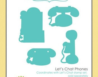 Let's Chat Phone Set of 4 Dies... by Taylored Expressions