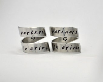 Best Friends Rings, Partners in crime ring set