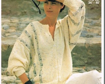 SALE! FOUR Knitting Patterns PINGOUIN Pattern Book 0082 - Summer Cardigans & Tops Bust 34 36 38 40