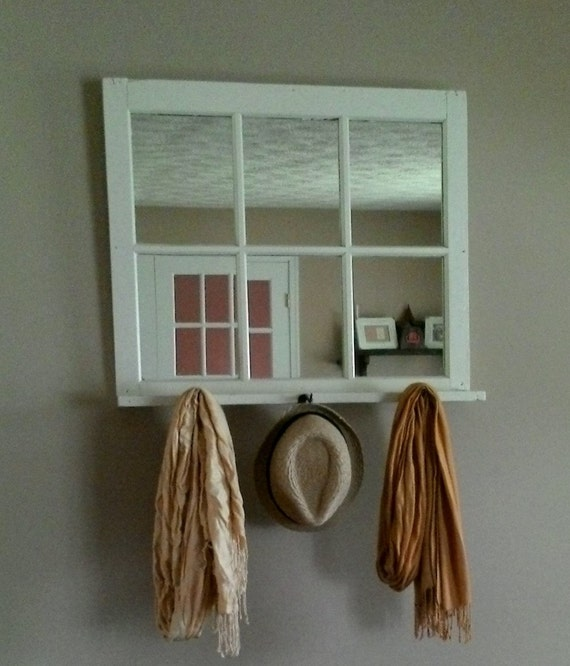 entryway mirror with shelf by shabby2chicart on etsy. Black Bedroom Furniture Sets. Home Design Ideas